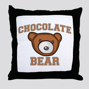 Chocolate Bear Throw Pillow
