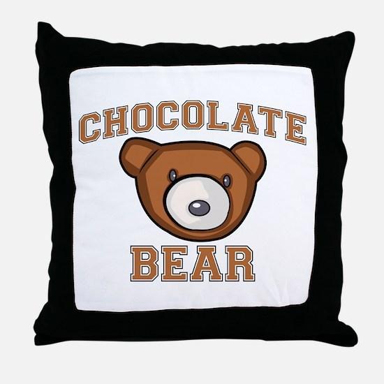 Chocolate Bear Throw Pillow