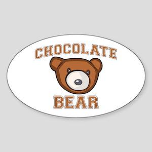 Chocolate Bear Sticker (Oval)