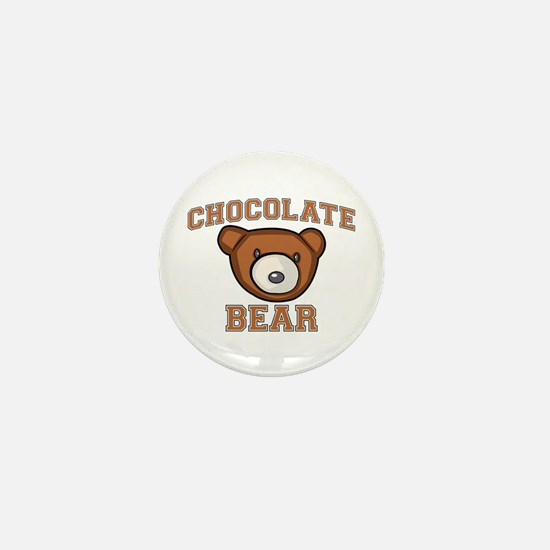 Chocolate Bear Mini Button