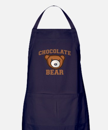 Chocolate Bear Apron (dark)