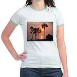 Romantic Beach Sunset Jr. Ringer T-shirt