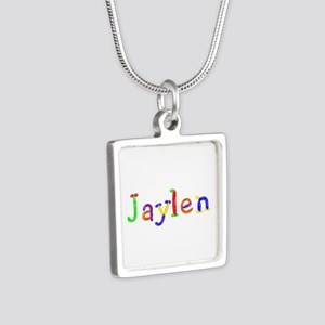 Jaylen Balloons Silver Square Necklace