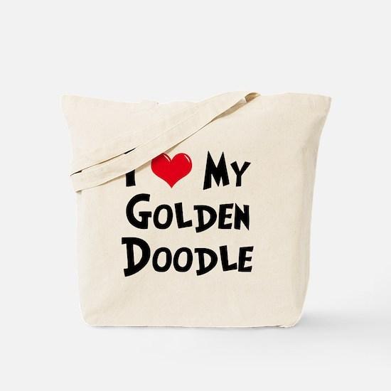 I Love My Golden Doodle Tote Bag