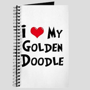 I Love My Golden Doodle Journal
