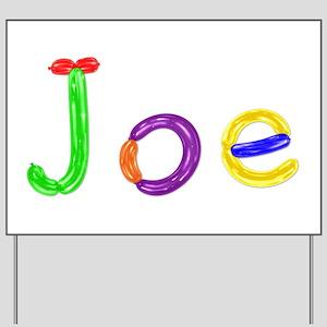 Joe Balloons Yard Sign