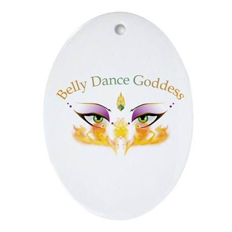 Belly Dance Shimmy Chic Ornament (Oval)