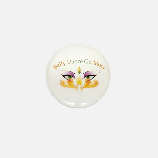 Belly Dance Shimmy Chic Mini Button