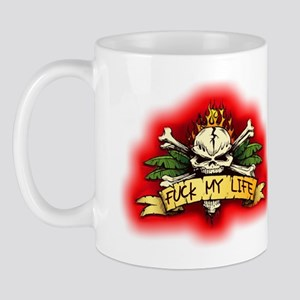 Fuck My Life Skull Mug