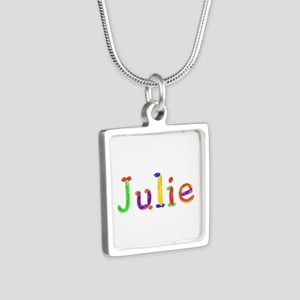 Julie Balloons Silver Square Necklace
