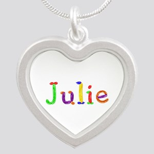 Julie Balloons Silver Heart Necklace