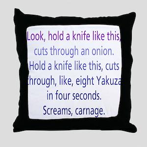 Screams, Carnage Throw Pillow