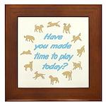 Time to Play Framed Tile