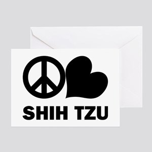 Peace Love Shih Tzu Greeting Card