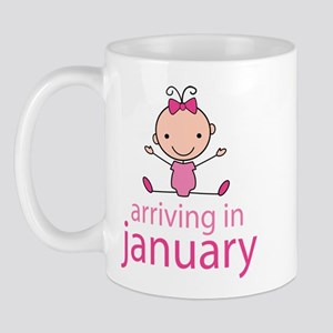 Stick Figure Baby January Due Date Mug