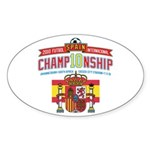 2010 Futbol Championship Sticker (Oval 50 pk)