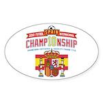 2010 Futbol Championship Sticker (Oval 10 pk)