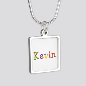 Kevin Balloons Silver Square Necklace