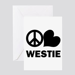 Peace Love Westie Greeting Card