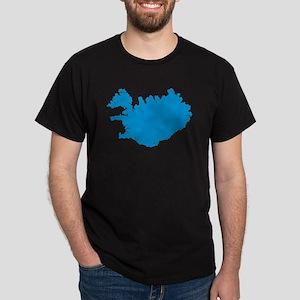 Iceland map Dark T-Shirt