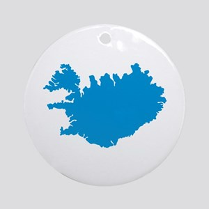 Iceland map Ornament (Round)