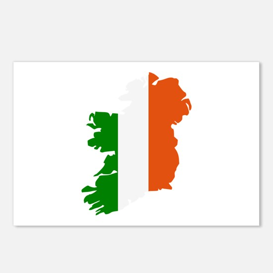 Ireland map Postcards (Package of 8)