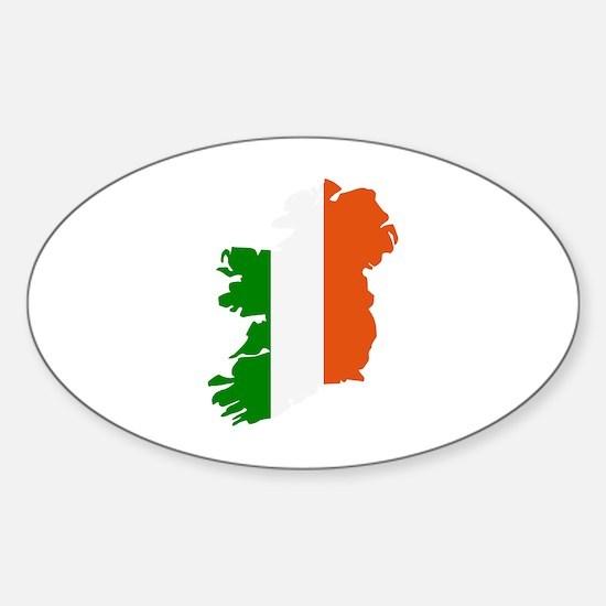 Ireland map Sticker (Oval)