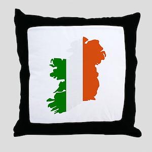 Ireland map Throw Pillow