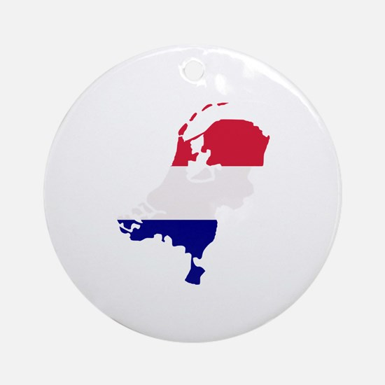 Netherlands map Ornament (Round)