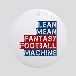 Fantasy Football Machine Ornament (Round)