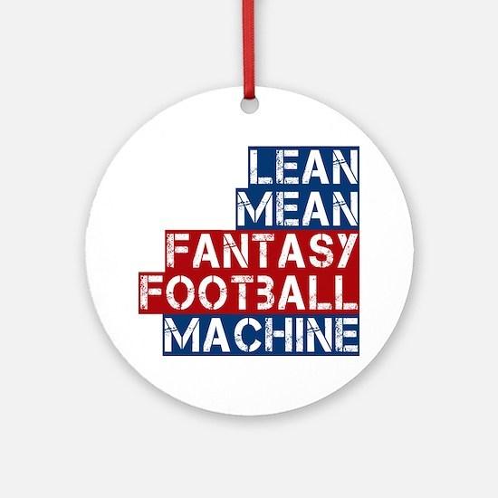 Fantasy Football Machine Ornament (Round)