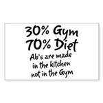 30% Gym Sticker (Rectangle)