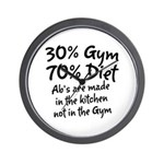 30% Gym Wall Clock