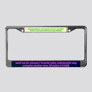Psalm 144:2 License Plate Frame
