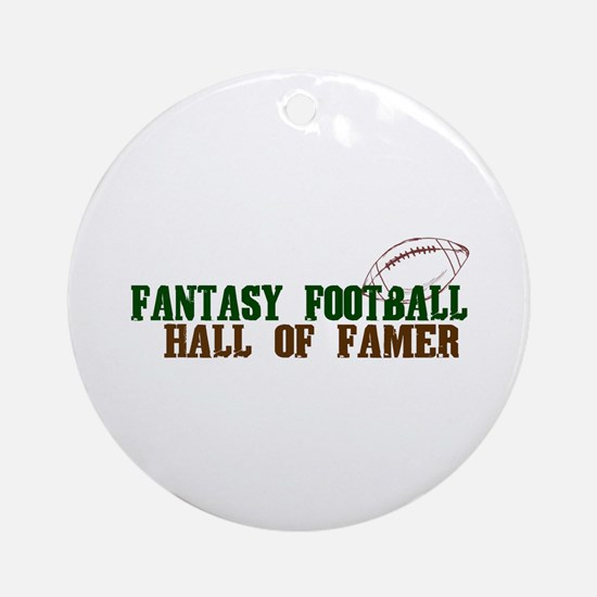 Fantasy Football Hall of Famer Ornament (Round)