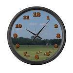 Hay Bails Large Wall Clock