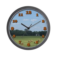 Hay Bails Wall Clock