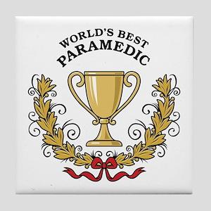 World's Best Paramedic Tile Coaster