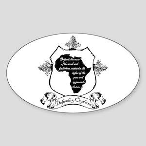 Defending Africa Orphans Sticker (Oval)