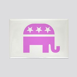 Pink Elephant Rectangle Magnet