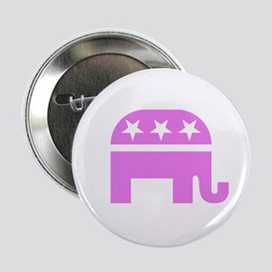 """Pink Elephant 2.25"""" Button"""