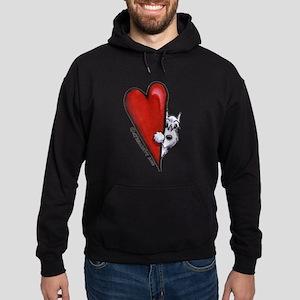 White Schnauzer Lover Hoodie (dark)