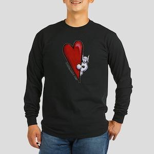 White Schnauzer Lover Long Sleeve Dark T-Shirt