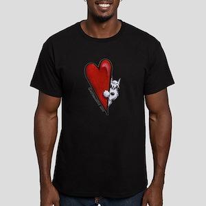 White Schnauzer Lover Men's Fitted T-Shirt (dark)