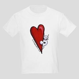 White Schnauzer Lover Kids Light T-Shirt