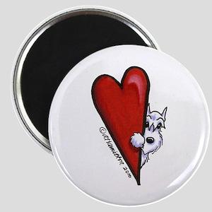 White Schnauzer Lover Magnet