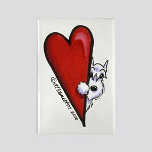 White Schnauzer Lover Rectangle Magnet