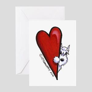 White Schnauzer Lover Greeting Card