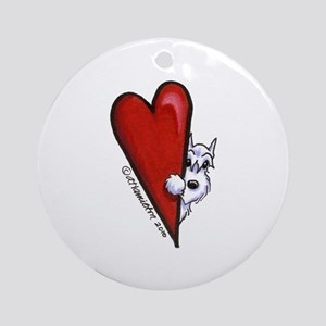 White Schnauzer Lover Ornament (Round)