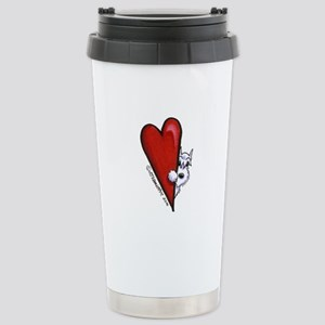 White Schnauzer Lover Stainless Steel Travel Mug